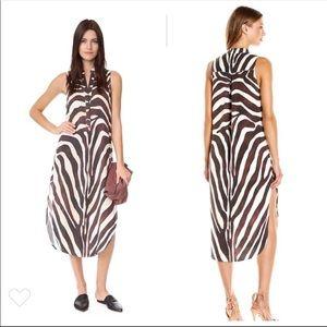Mara Hoffman Zebra Print Shirt Dress SZ XS EUC